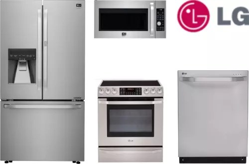 lg kitchen appliance packages waterworks faucets lgs4ssfd2 4 piece appliances package with french door