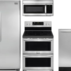Kitchen Appliance Packages Stainless Steel Country Valances Frigidaire Frreradwmw170 4 Piece Appliances Gallery Series Package
