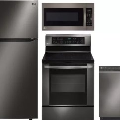 Lg Kitchen Appliances Aid Ovens Lgreradwmw1099 4 Piece Package With Top
