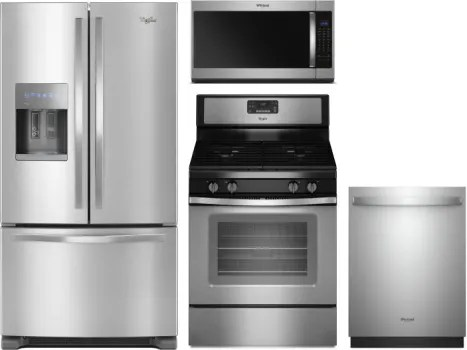 kitchen appliance packages stainless steel design ideas for small kitchens whirlpool wpreradwmw7429 4 piece appliances package with