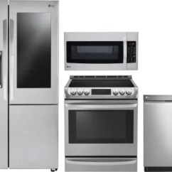 Lg Kitchen Appliance Packages Types Of Flooring Lgreradwmw9350 4 Piece Appliances Package With Side By