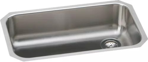 single bowl stainless kitchen sink novaform anti fatigue mat elkay eguh2816r 31 inch undermount steel gourmet collection featured view