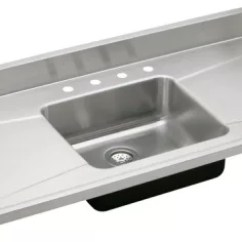 Single Bowl Stainless Kitchen Sink Island Wheels Elkay S60194 60 Inch Steel Top With 18 Lustertone Collection Featured View