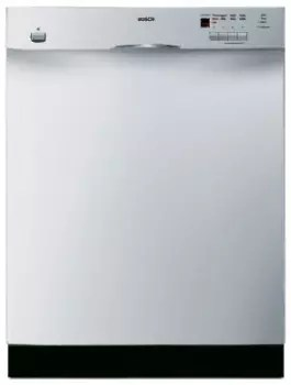Bosch Dishwasher Top Rack : bosch, dishwasher, Bosch, SHE44C05UC, Console, Dishwasher, Cycles,, Platinum, Upper, Rack,, OPTIDRY, Silence, Rating, Stainless, Steel