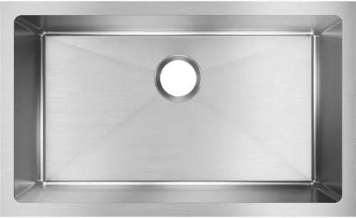 kitchen sink capacity hats for staff elkay efru281610t 30 inch single bowl undermount with crosstown collection top view