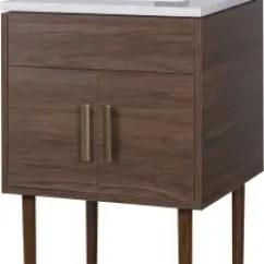 Cutler Kitchen And Bath Cabinets Glass Doors Midcnt24 24 Inch Freestanding Bathroom Vanity Garland