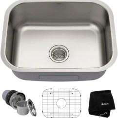 Single Bowl Stainless Kitchen Sink Used Equipment Kraus Kbu12 23 Inch Undermount Steel Main View