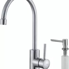Kraus Kitchen Faucet Couch Kpf2160sd20 Single Lever Stainless Steel With Series And Soap Dispenser