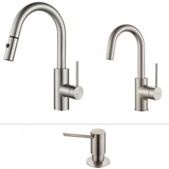 Kitchen Pull Down Faucet Crosley Cart Kraus Kpf2620260041ss Single Handle Combo Oletto Series In Stainless Steel