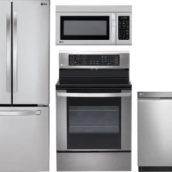 Lg Kitchen Appliances Under Cabinet Lighting Lgreradwmw1587 4 Piece Package With French
