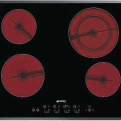Smeg Wall Oven Wiring Diagram 2004 Bmw X5 Headlight S2641tcu 24 Inch Smoothtop Electric Cooktop With 4 Heating Ceramic