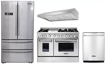 kitchen appliance suites cheapest place to buy cabinets thor tkkpreradwrh13 4 piece appliances package with refrigerator