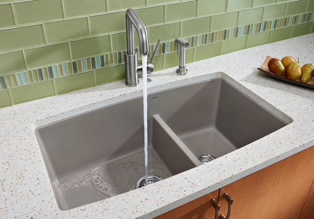 Blanco 441312 33 Inch Undermount Double Bowl Granite Sink