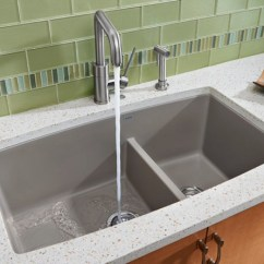 Ada Compliant Kitchen Sink Sprayer Hose Blanco 441312 33 Inch Undermount Double Bowl Granite ...