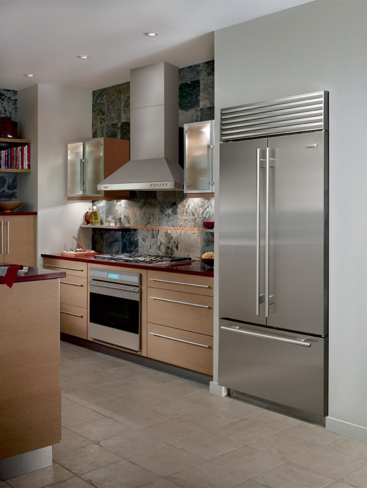 stainless steel wall panels kitchen commercial ikea installation cost sub-zero bi36ufdo 36 inch built-in french door ...