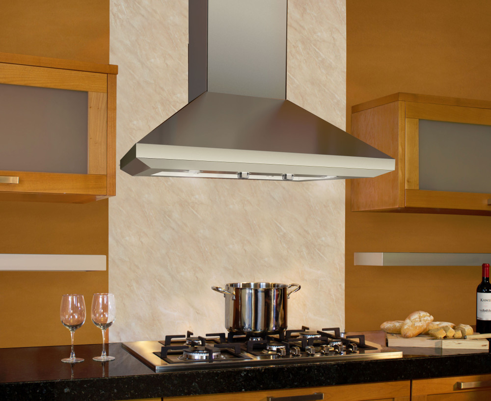 Elica ELN136SS 36 Inch Wall Mount Chimney Hood with 1200