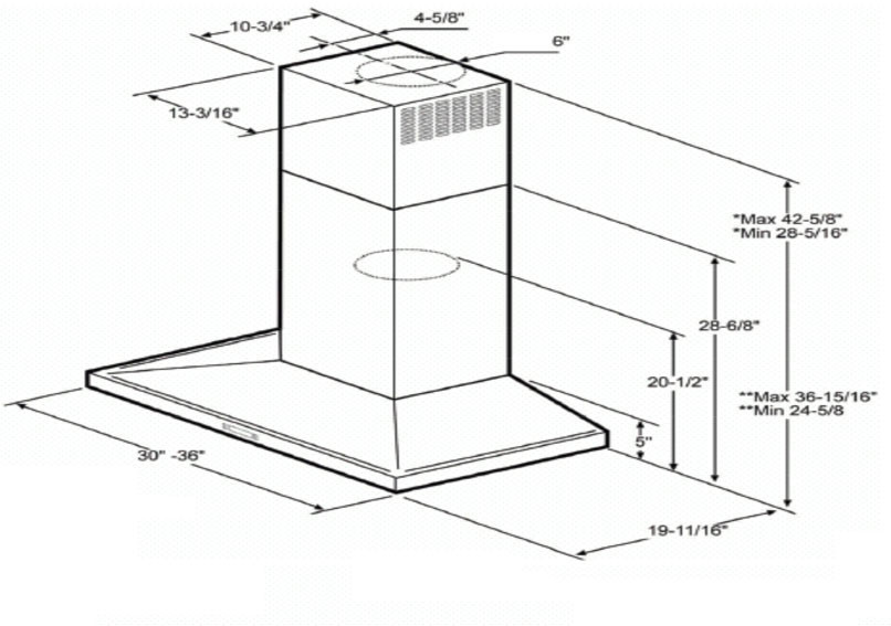 Elica ELG636S2 Wall Mount Chimney Hood with 600 CFM