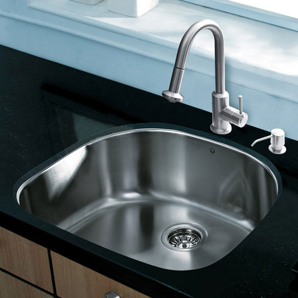 pull out spray kitchen faucet flooring options vigo industries vg15292 24 inch all-in-one undermount ...