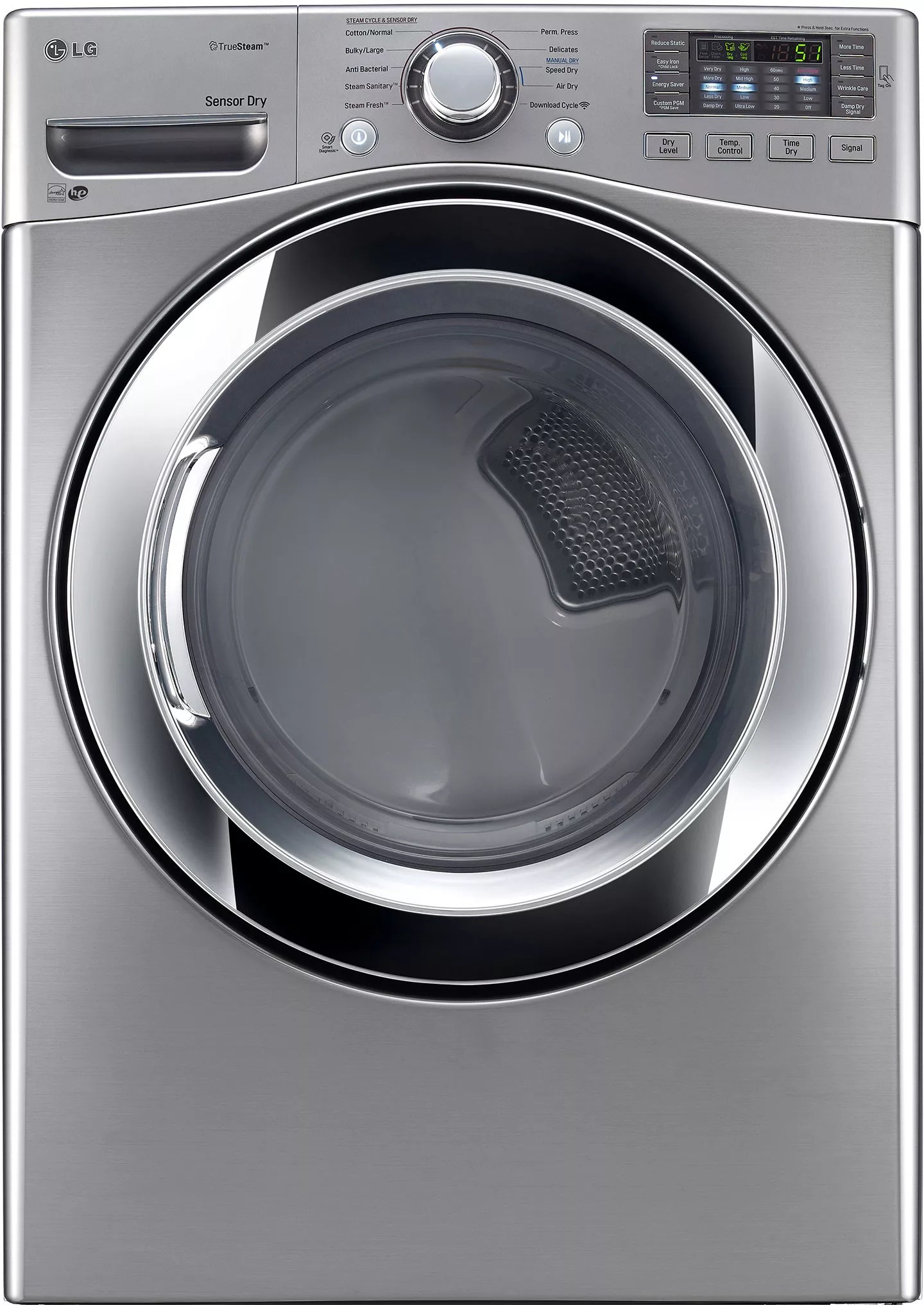 LG WM3670HVA 27 Inch 45 cu ft Front Load Washer with Steam Smart ThinQ WiFi NFC TagOn