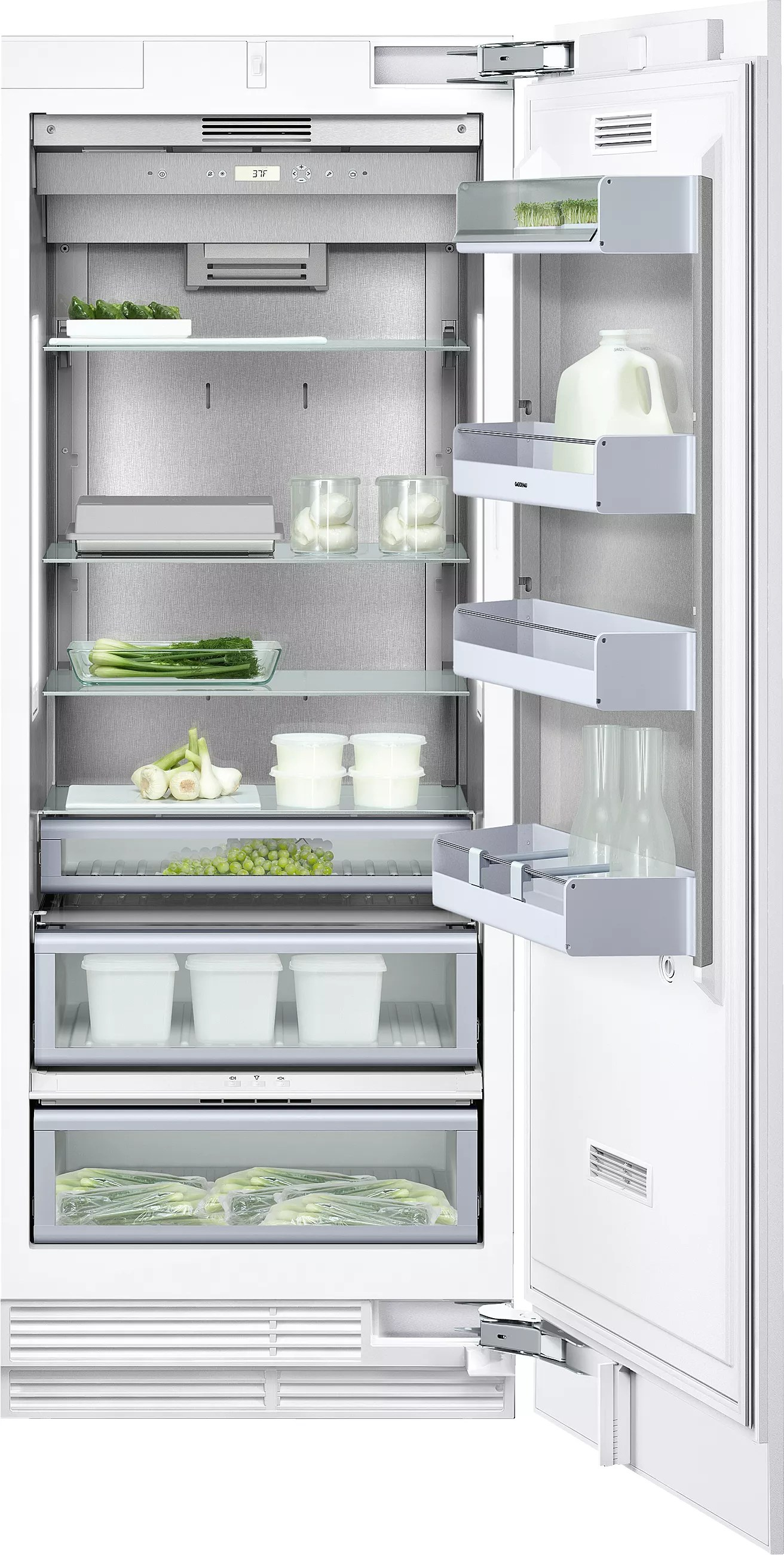 Gaggenau RF461701 24 Inch BuiltIn Freezer Column with Automatic Ice Maker Automatic Defrost