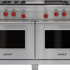 Best Kitchen Stoves Cheap Small Table Wolf Df606cg 60 Inch Pro-style Dual-fuel Range With 6 Dual ...