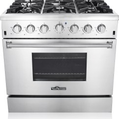 Kitchen Stoves At Lowes High End Sinks Thor Hrg3618u 36 Inch Freestanding Gas Range With
