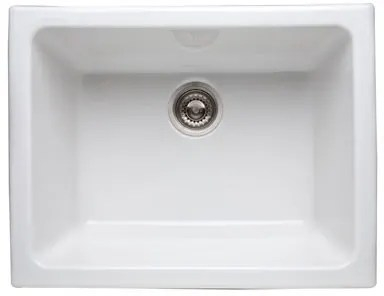 rohl kitchen sinks area rugs walmart 634700 24 inch fireclay sink with 10 deep bowl allia white strainer not included