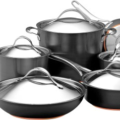 Kitchen Appliance Packages Stainless Steel Cabinets Fayetteville Nc Anolon 82835 Nouvelle Dark Gray Cookware ...