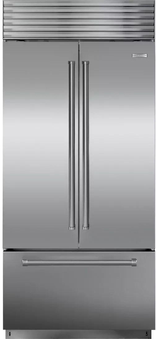 Sub Zero BI36UFDIDSPH 36 Inch Built In French Door