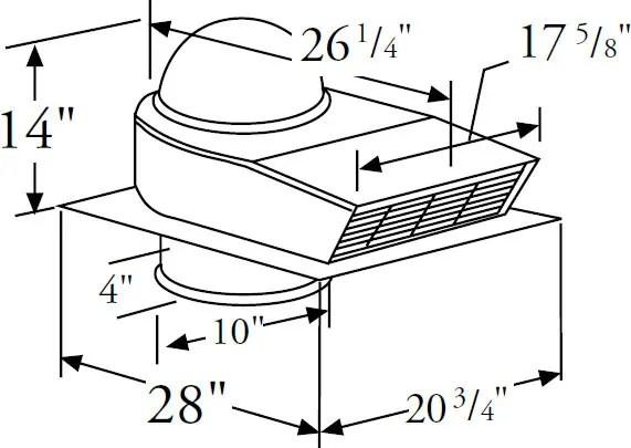 Prizer Hoods CFMR1400 1,400 CFM External Blower