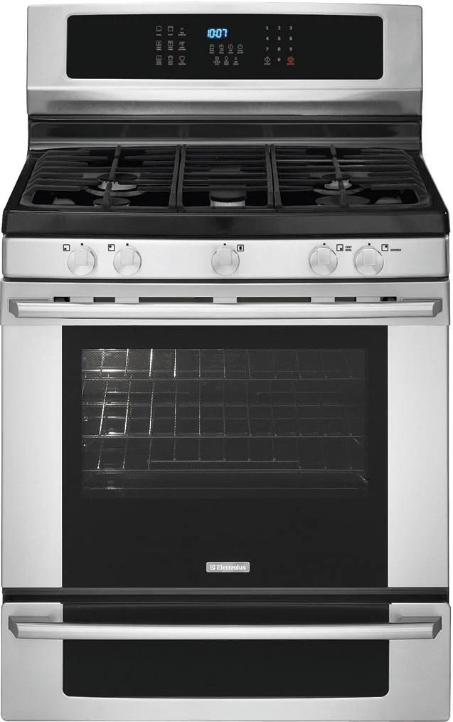 kitchen ranges gas fluorescent light fixtures home depot electrolux ei30gf35js 30 inch freestanding range with ...