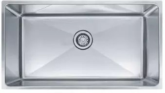 single bowl stainless kitchen sink built in wine racks for cabinets franke psx1103312 34 inch undermount steel professional series
