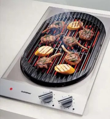 kitchen appliance packages stainless steel country cottage designs gaggenau vr230612 12 inch modular electric indoor barbecue ...