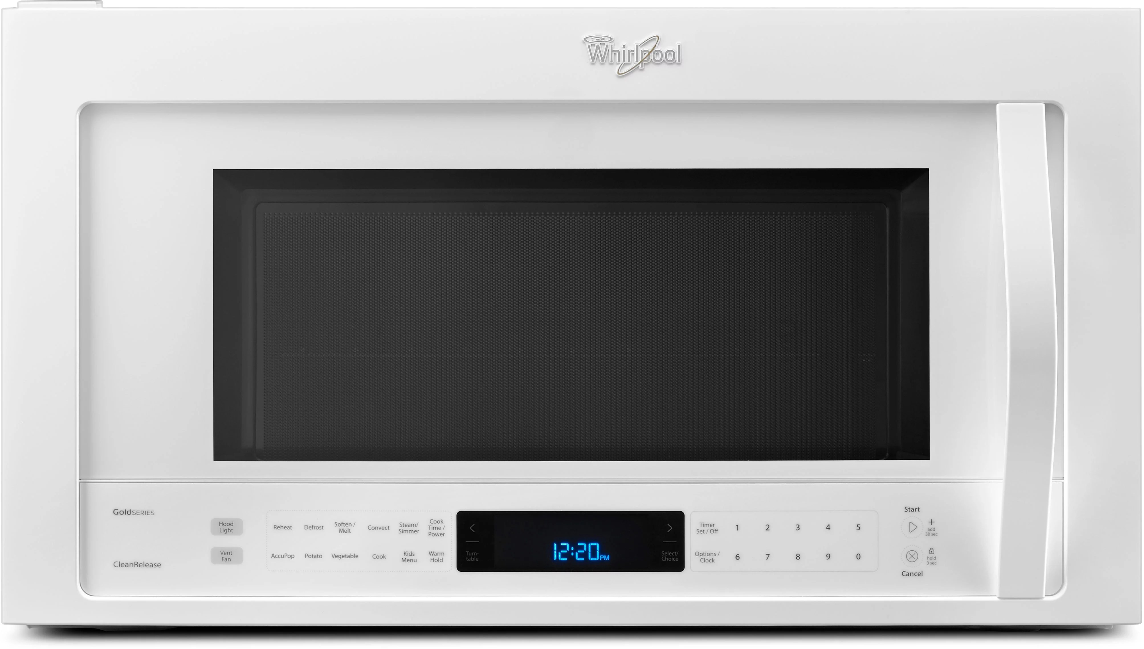 Whirlpool WMH76719CW 19 Cu Ft Over The Range Microwave Oven With 400 CFM Venting System True