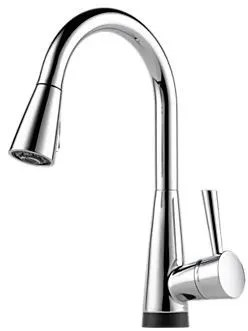 brizo kitchen faucet pantry doors home depot 64070lfpc single lever pull down with venuto chrome