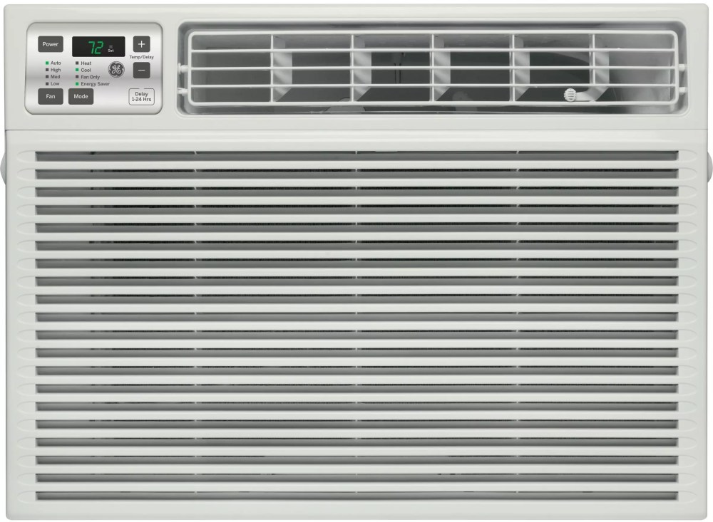 medium resolution of ge aee08at 8 000 btu room air conditioner with 3 800 heating btu 270 cfm 11 0 eer 1 3 pts hr dehumidification capacity electronic digital thermostat