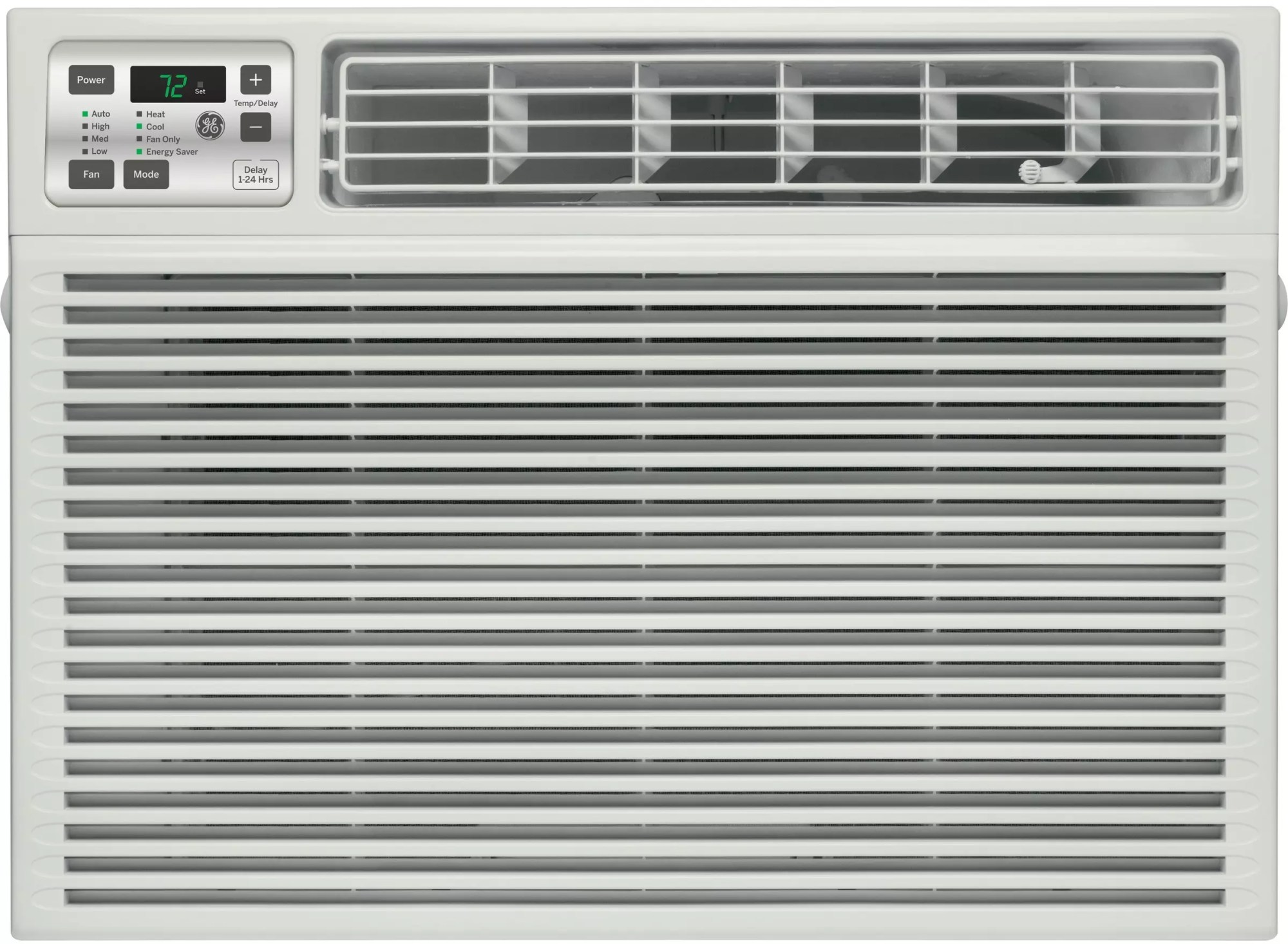 hight resolution of ge aee08at 8 000 btu room air conditioner with 3 800 heating btu 270 cfm 11 0 eer 1 3 pts hr dehumidification capacity electronic digital thermostat