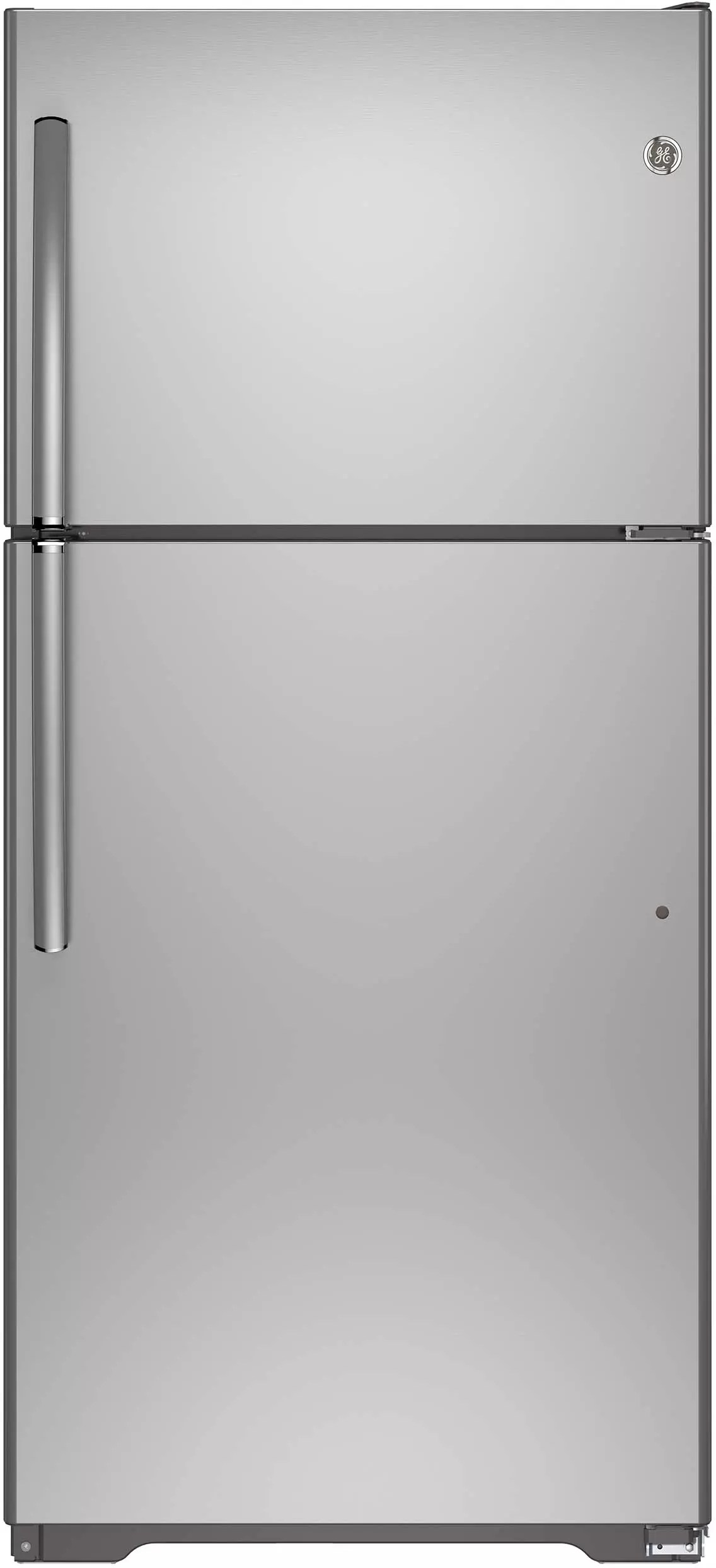 GE GIE18ISHSS 30 Inch Top Freezer Refrigerator With 182 Cu Ft Capacity 3 Adjustable Glass