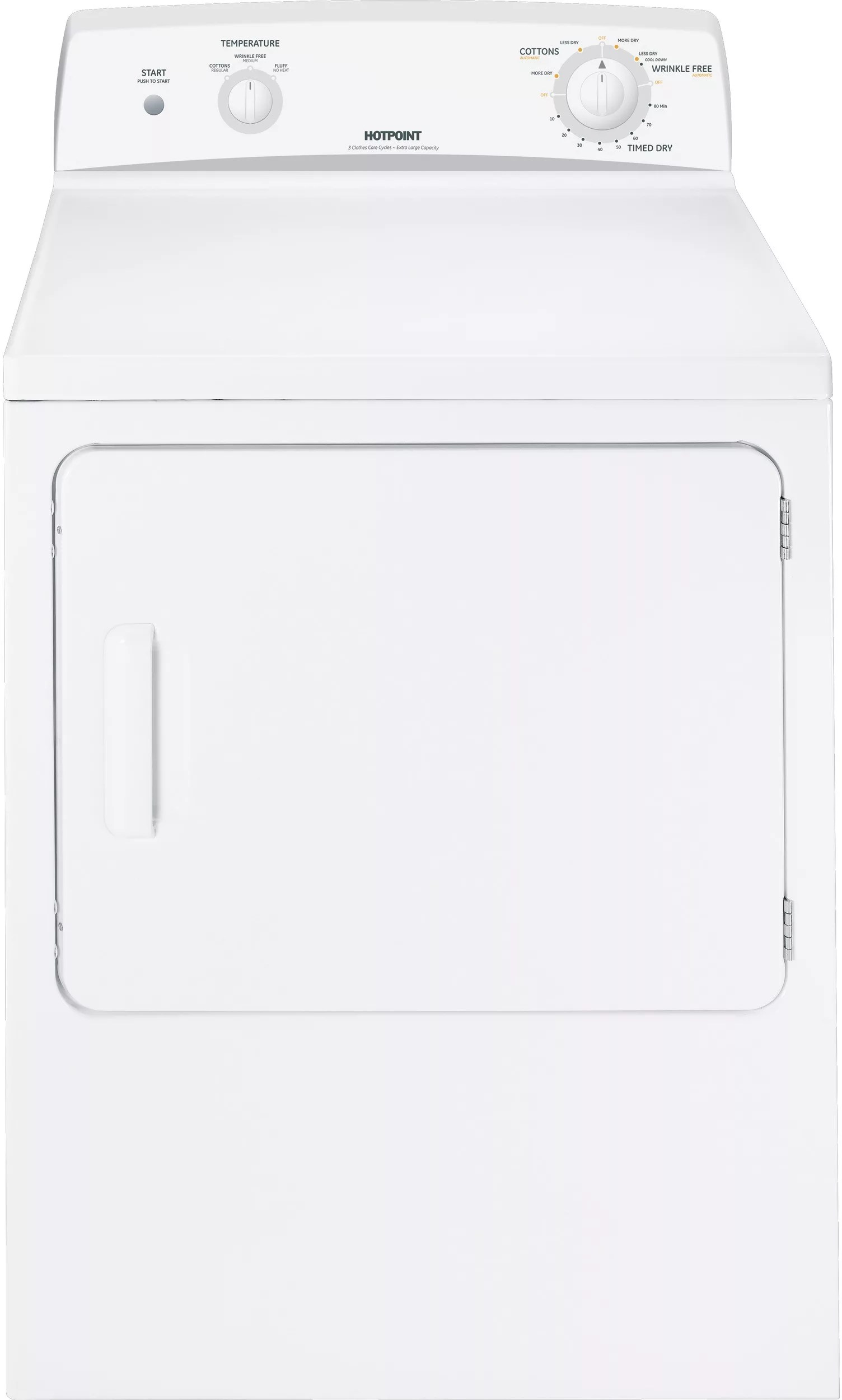Hotpoint HTDX100EMWW 27 Inch Electric Dryer with 6.0 cu