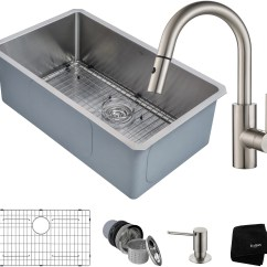 30 Inch Kitchen Sink Curtain Set Kraus Khu10030262041ss And Faucet