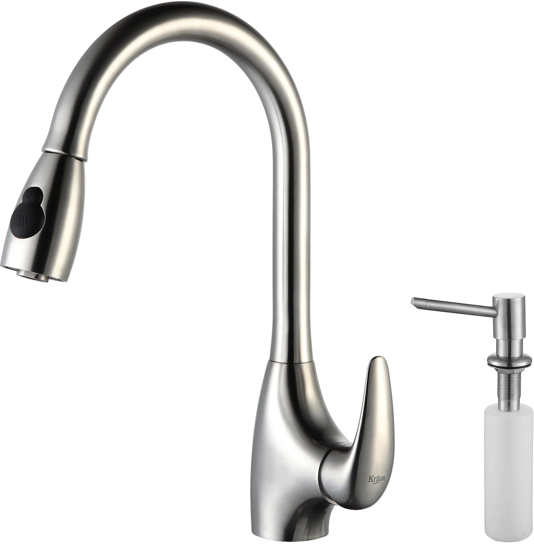 spray head kitchen faucet cabinet reviews kraus kpf2170sd20 single lever pull out
