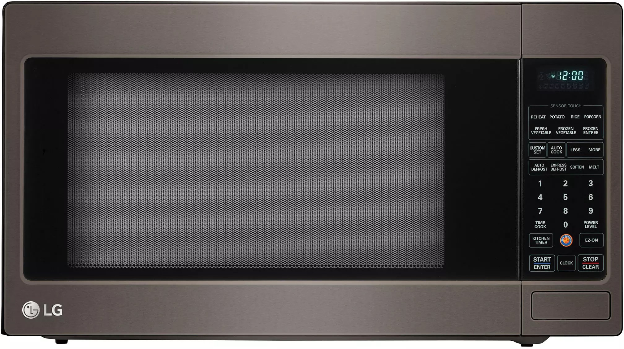 black stainless steel kitchen floral curtains lg lcrt2010bd 2.0 cu. ft. countertop microwave oven with ...