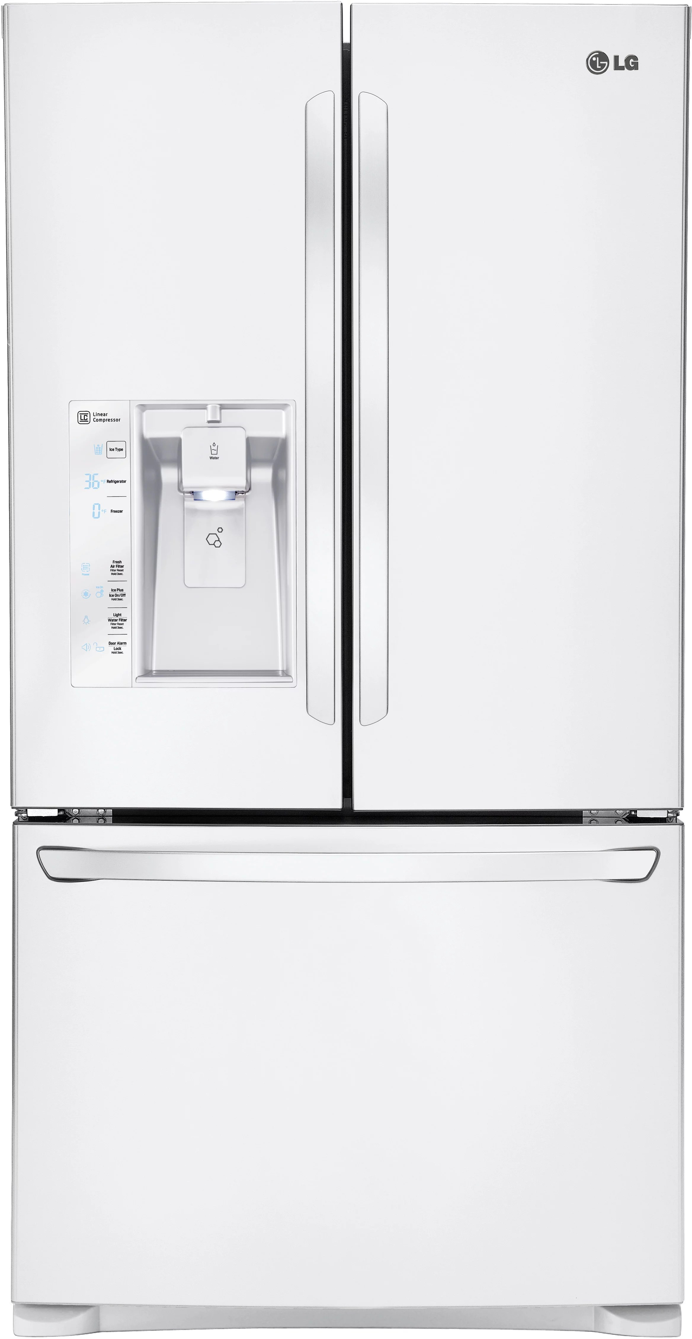 LG LFXS29626W 36 Inch French Door Refrigerator with Smart