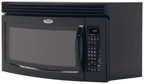 Whirlpool MH3184XPB 18 Cu Ft Over The Range Microwave Oven With 1000 Cooking Watts Amp 4 Speed