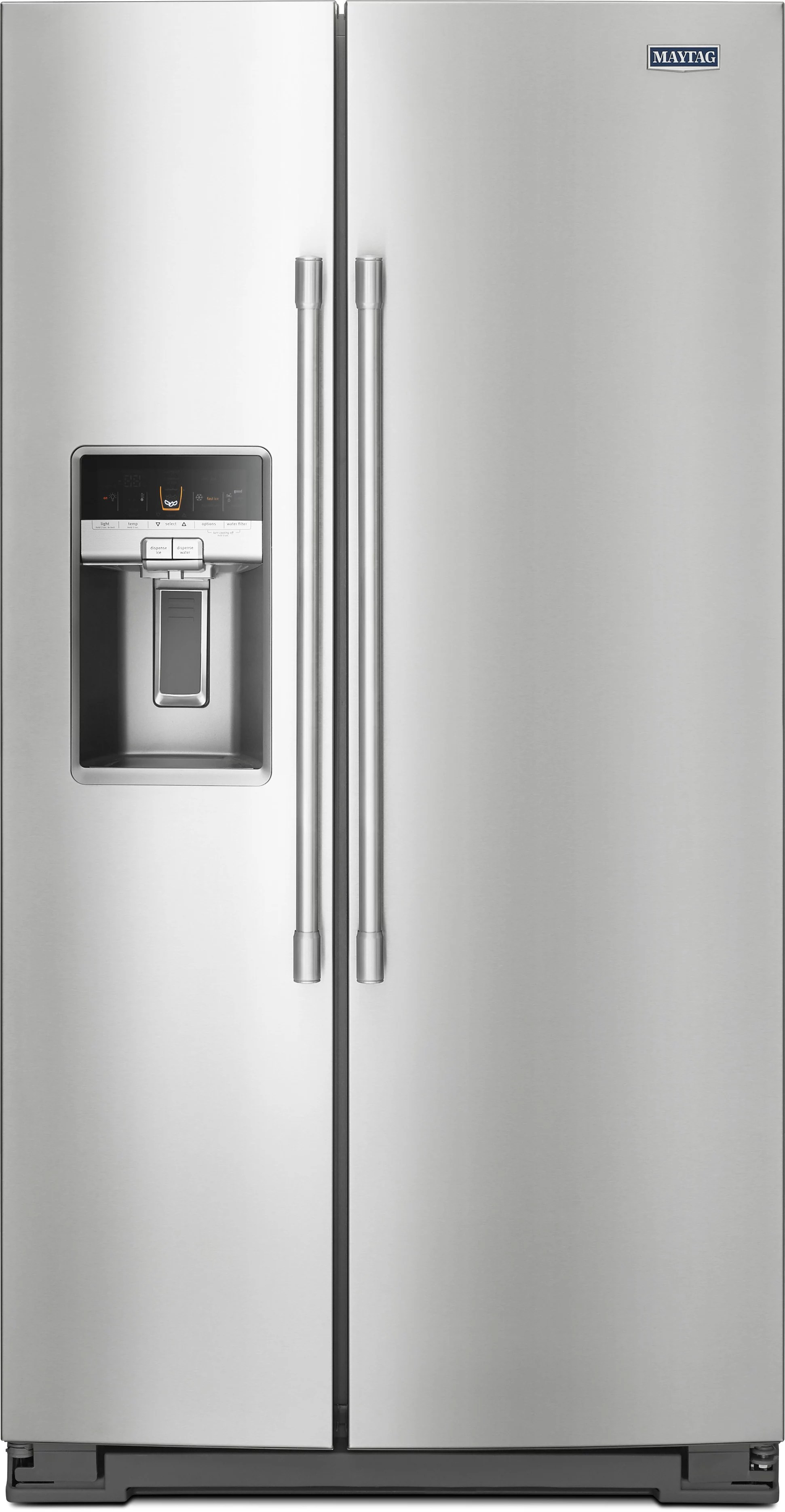 kitchen stoves gas gold faucet maytag mss26c6mfz 36 inch side-by-side refrigerator with ...