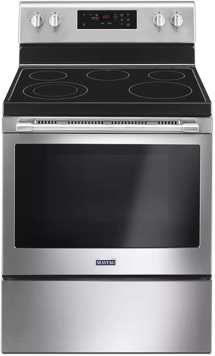 maytag kitchen ranges islands for kitchens mer6600fz 30 inch freestanding electric range with ...