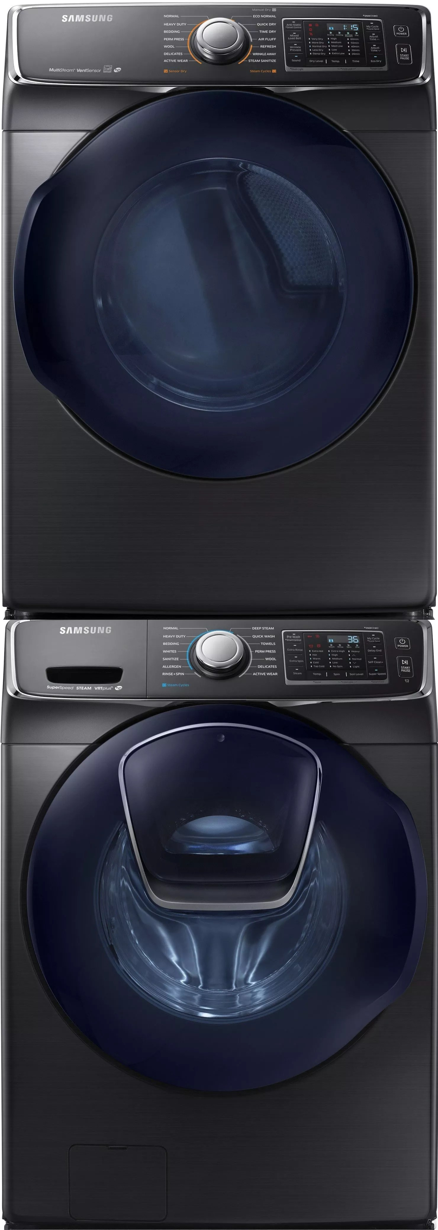 samsung kitchen appliance set oval tables sawadrgbs18 stacked washer & dryer with front ...