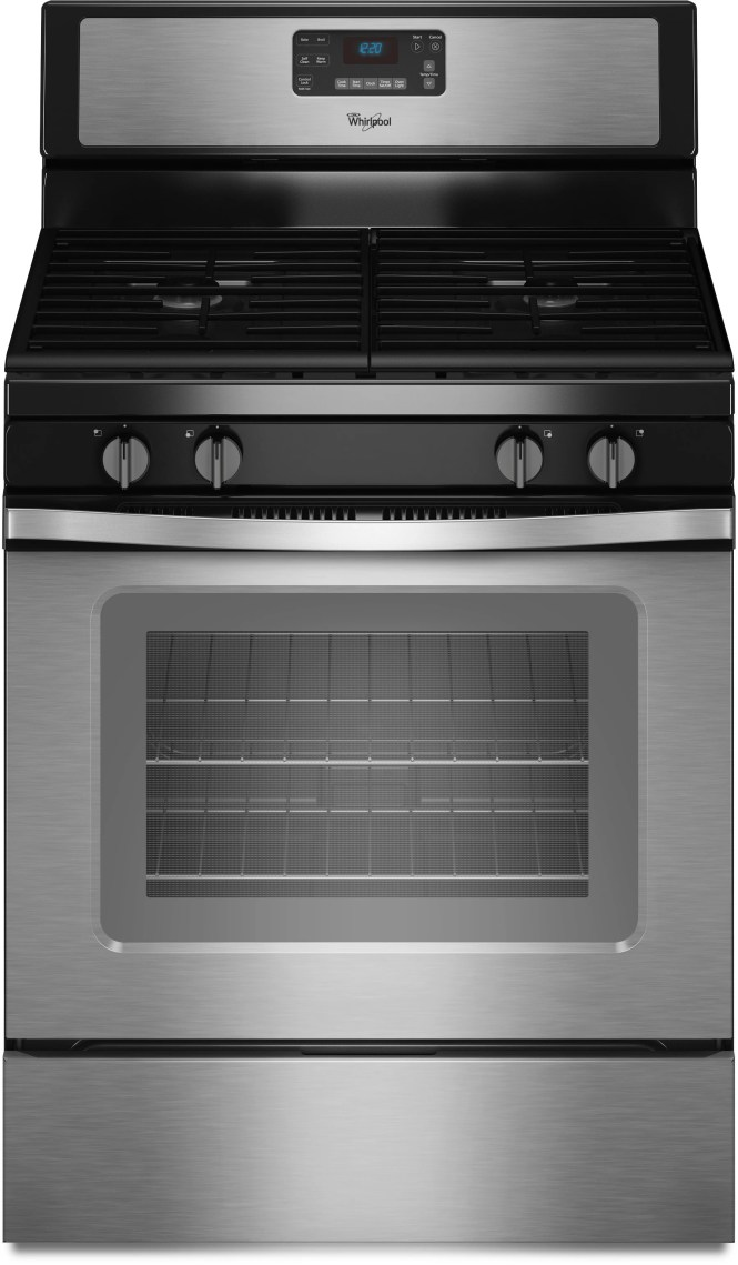 Whirlpool 5 8cuft Gas Slide In Range With Center Oval Burner Stainless Steel