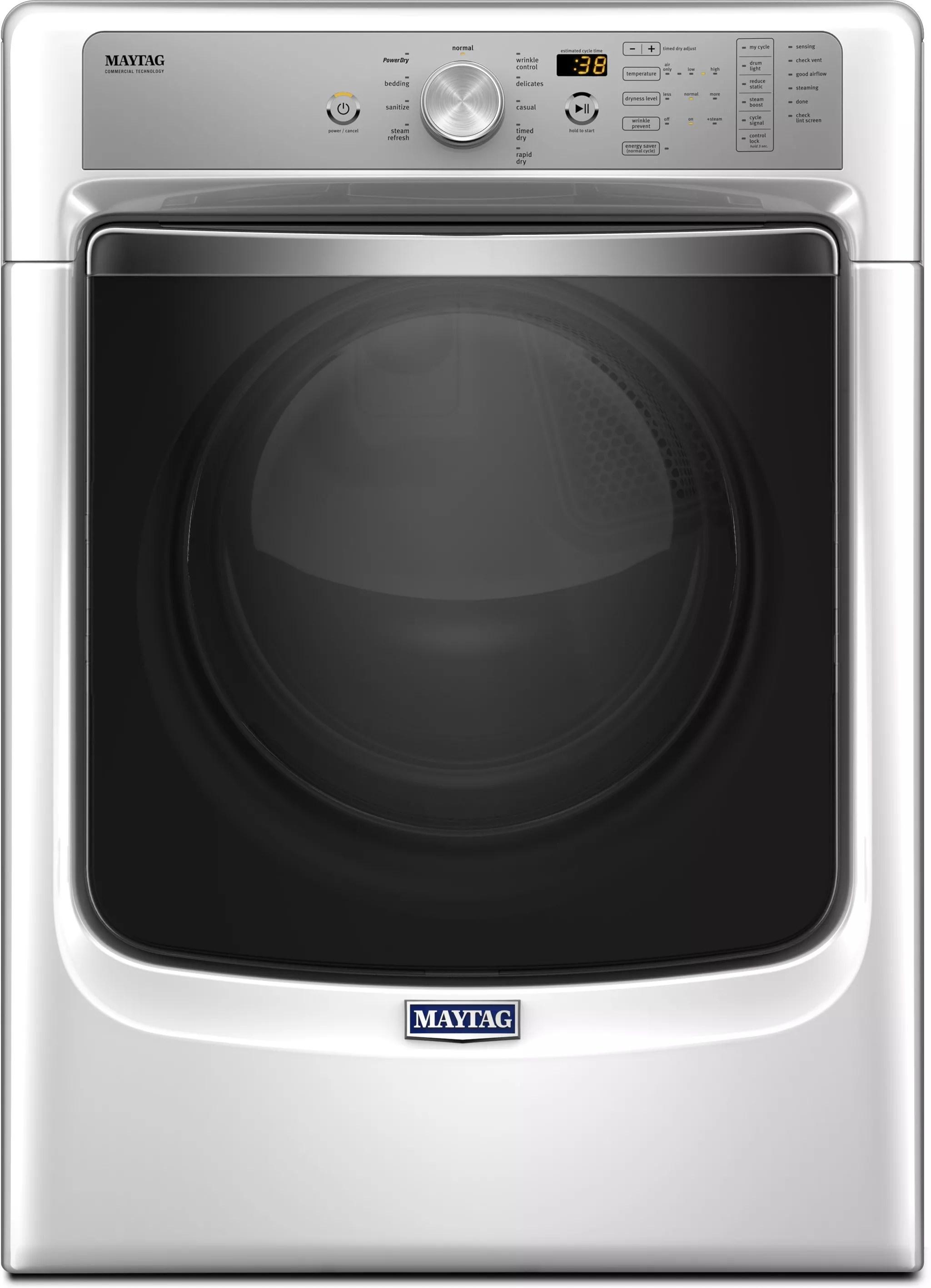 maytag kitchen ranges 4 stool island mgd8200fw 27 inch 7.4 cu. ft. gas dryer with steam ...