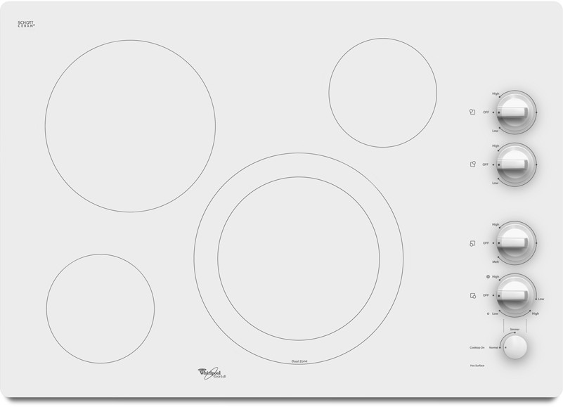 Whirlpool G7CE3034XP 30 Inch Smoothtop Electric Cooktop